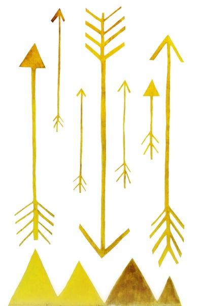 Golden Arrows Art Print