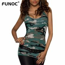 FUNOC Off The Shoulder tshirt Sexy Tops Women Sleeveless Camouflage t-shirt 2017 Summer T Shirt Femme Camiseta Mujer Female Tees //Price: $US $3.48 & FREE Shipping //     #hashtag4