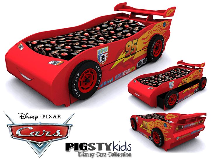 This is an actual TWIN bed WITH A TRUNDLE not a toddler bed. Makes me want my car radio! | Disney/Furniture | Pinterest | Twin beds Toddler bed and Twins  sc 1 st  Pinterest : lighting mcqueen bed - azcodes.com