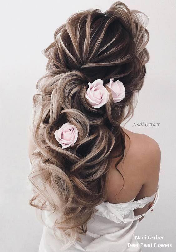 17 Best Long Wedding & Prom Hairstyles from Nadi Gerber Voluminous wedding updos for long  #haircoloring #haircuts #haircolorideas #hairmakeup