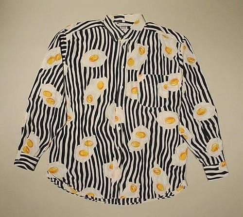 Vintage Moschino fried egg shirt, 1989