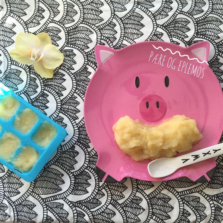 En super dessert for din lille. Del eplet og pæren i biter Fjern kjernene Damp eller kok i ca 5 min. Mos med en stavmikser Det er fint å koke frukten når barnet ennå en litt ny i matverdenen, men når barnet når ca 7-8 mnd alder er det ikke lenger nødvendig. Hvis barnet ditt