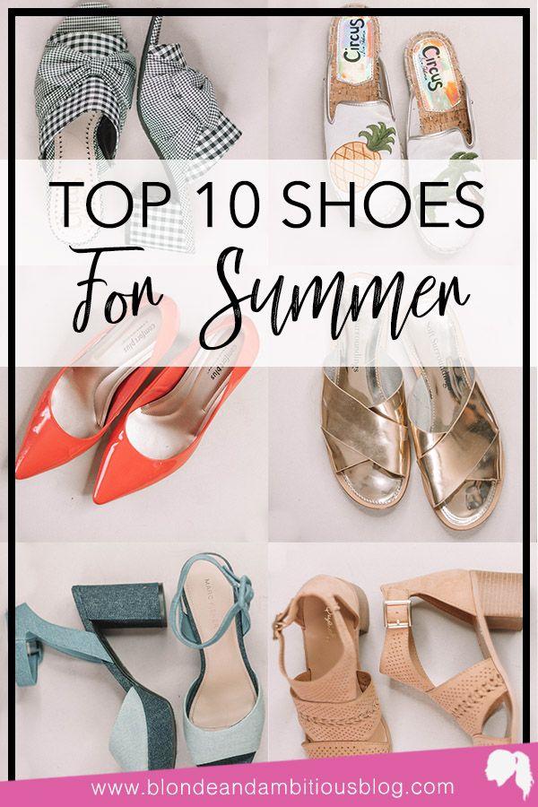 Top 10 shoes, Summer shoes, Shoes