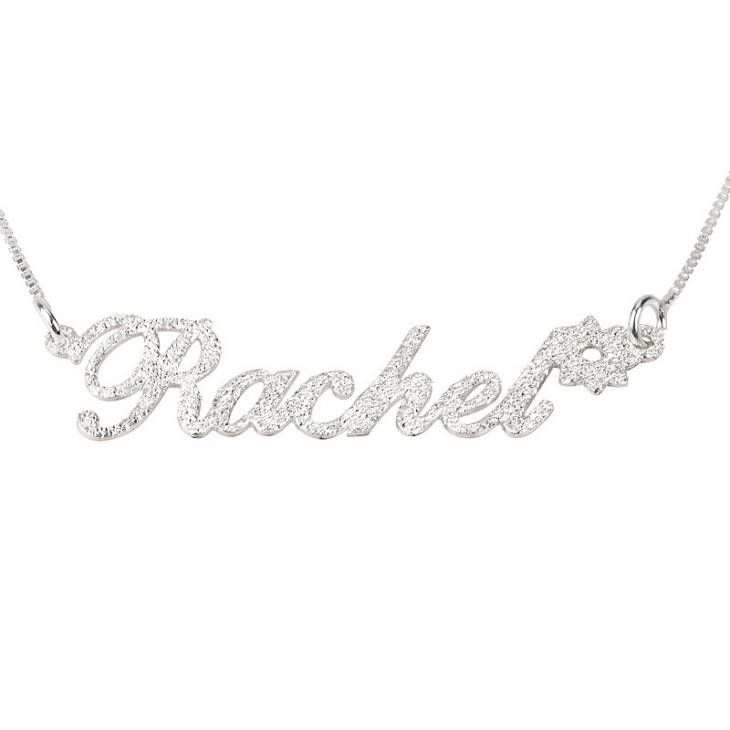 Excited to share the latest addition to my #etsy shop: Sparkling Name Necklace with Flower Sterling Silver 925 - Custom Name Necklace - Personalized Name Jewelry - Christmas Gift http://etsy.me/2AGnm85 #jewelry #necklace #silver #no #stainlesssteel #hook #female #girls #women