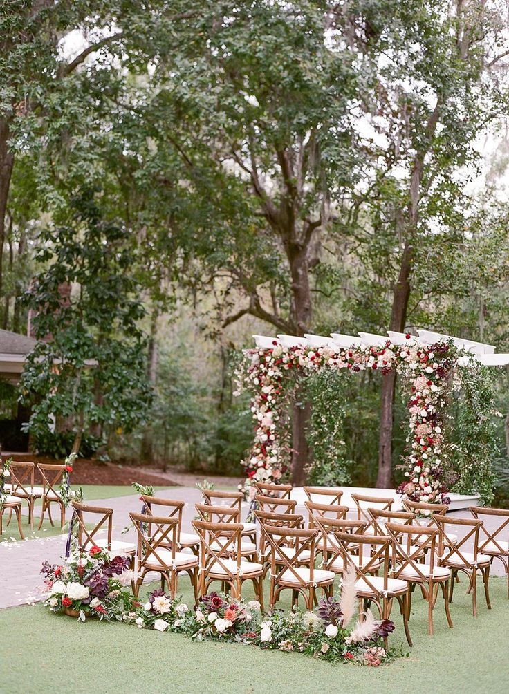 Okay, we are SOLD on Southern weddings after seeing all the classic details in this Savannah destination wedding. Velvet linens, lush floral backdrops and a venue teeming with Spanish moss might have grabbed our attention in the first place, but it was seeing the teary-eyed groom overcome with joy as his bride walked down the aisle that had us eternally obsessed with this outdoor garden wedding. Just wait till you see their bubbly guest favors and custom monogram invitations! #ruffledblog