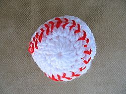 How to crochet a toy baseball. Baseball is the U.S.A.'s national sport. It is played, sung about and paid tribute to more than any other game.
