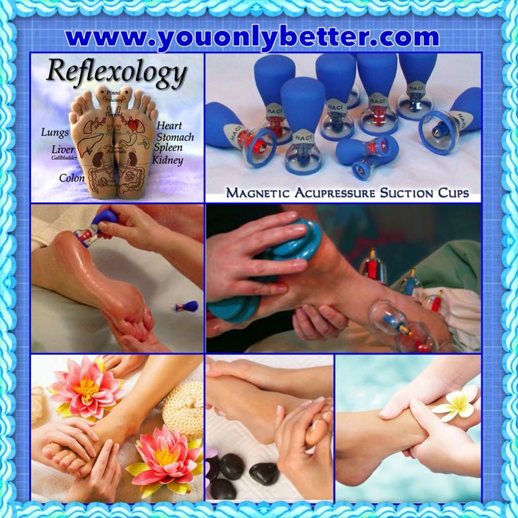 Reflexology is the science based on reflexes on the feet, hands, ears and face which correspond to all the glands, organs and other parts of the body. It is a natural, non-invasive way of stimulating internal organs, increasing circulation and restoring bodily functions to normal.  Reflexology treatments are enhanced with Haci MASC (Magnetic Apparatus Suction Cups). These Biomagnetic tools can also be used for addressing joint discomfort and trigger points. www.youonlybetter.com