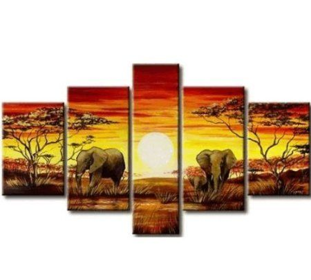 African Grassland Large Modern Abstract 100% Hand Painted Oil Painting on Canvas Wall Art Deco Home Decoration No Frame