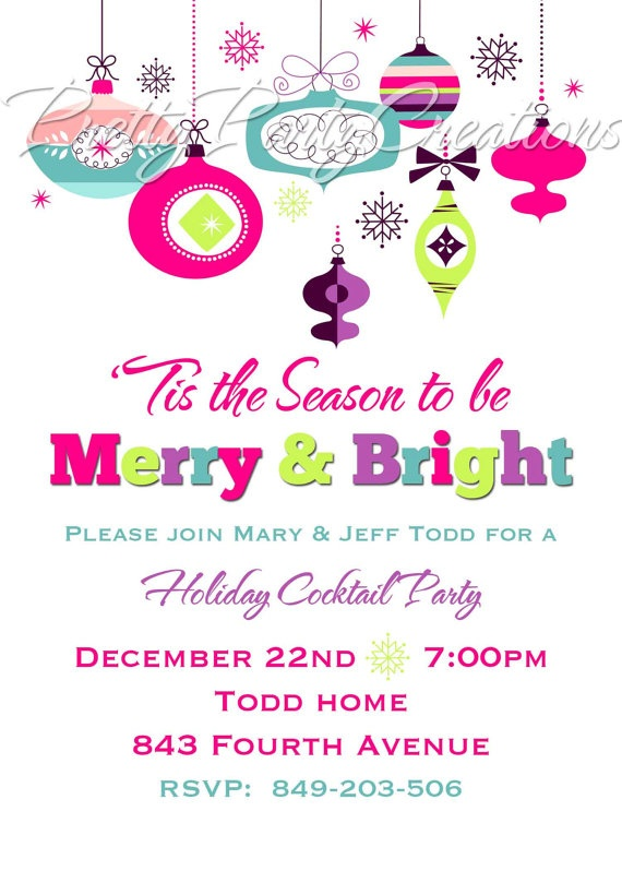 Best Elegant Holiday Party Invitations Images On