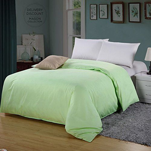 Plain Duvet Cover Quilt Set Pillow Cases Or Fitted Sheet Single Double King