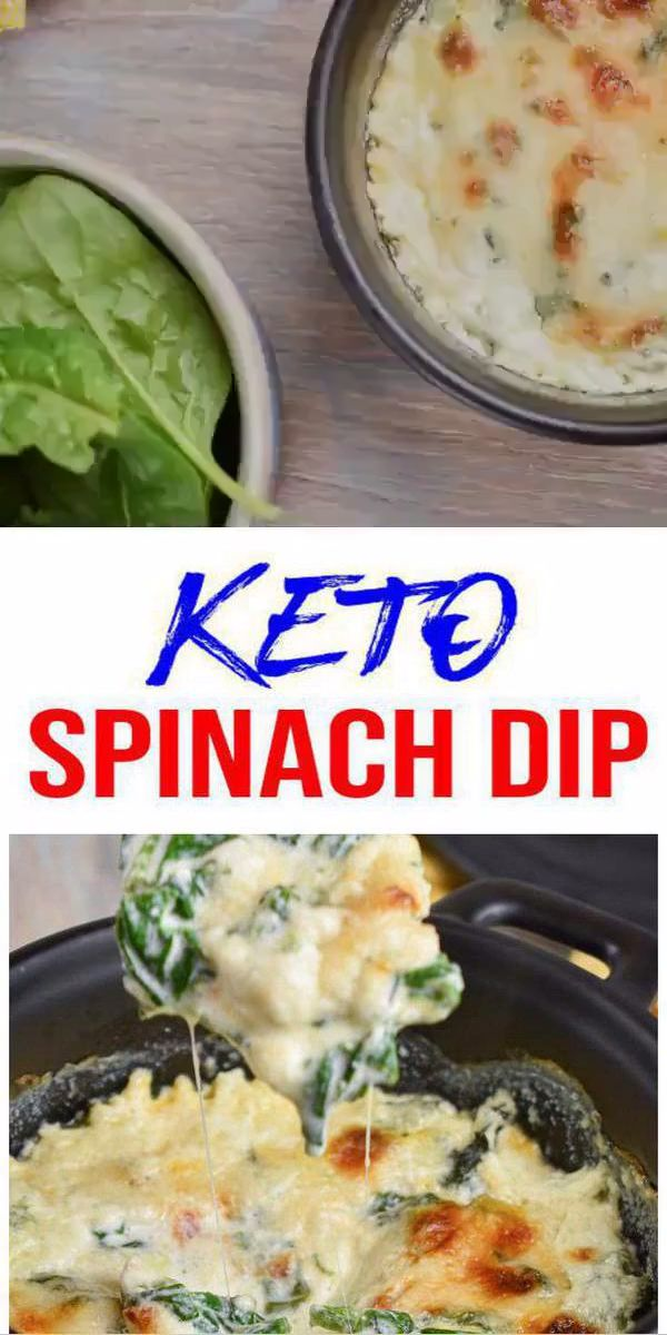 Keto-Spinat-Dip – EASY Low Carb Keto-Spinat-Dip Rezept – BEST Snack oder Partys Dip Idee
