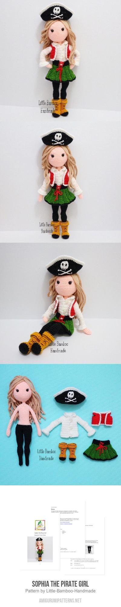 Sophia The Pirate Girl amigurumi pattern