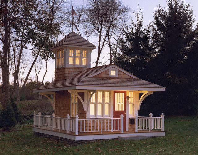 Outdoor Wood Kids Playhouse #tinyhousemovement