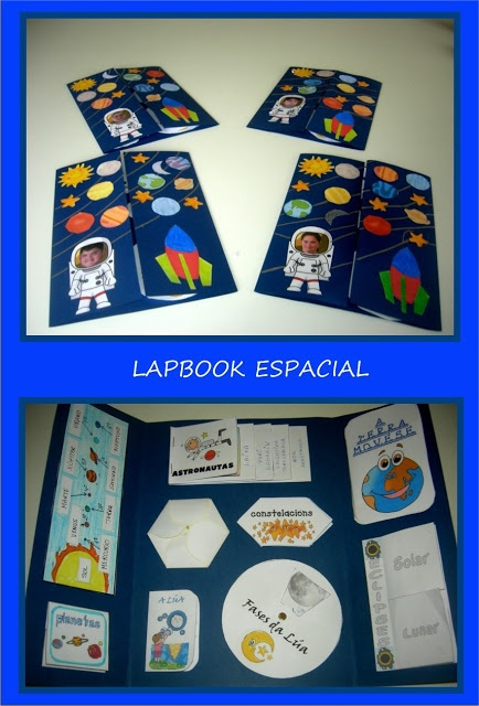Space-themed lapbook sample