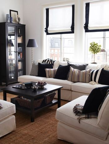 Opt for a classic monochrome living room colour scheme - bang on trend for 2013