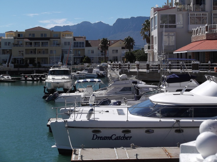 View from The Islander Bar Grill. Harbour Island marina development - Gordon's Bay