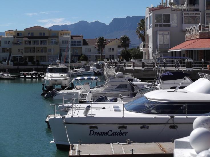 View from The Islander Bar Grill. Harbour Island marina development - Gordon's Bay