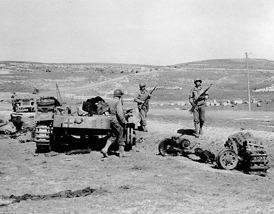Re-assembled under Allen's command, the Big Red One scored the first American defeat of a German unit, the 10th Panzer Division, at the Battle of El Guettar in 1943. The division had become a battle-hardened unit.