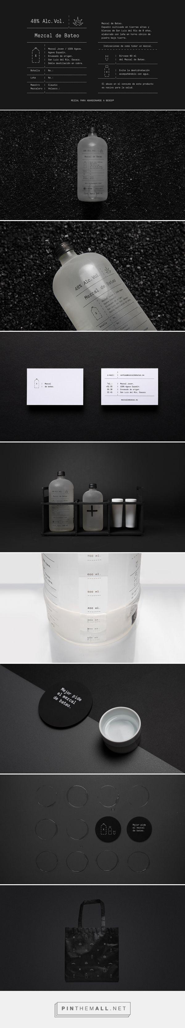 Mezcal de bateo packaging branding by Futura