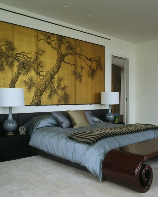 ♂ Asian inspired modern interior bedroom