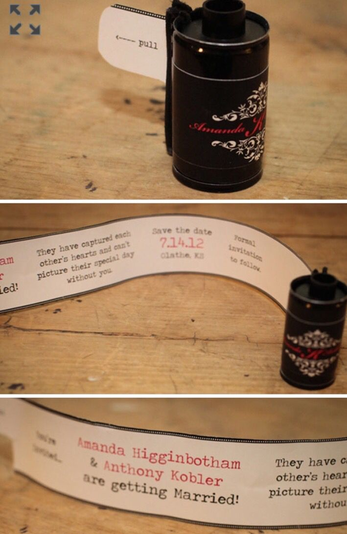 how to make film canister wedding invitations%0A Film Canister Save The Date