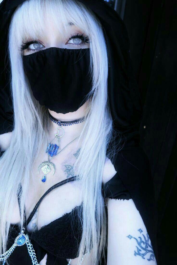 Punk, Girl, Goth, Gothic, Aesthetic, Cute, Pretty