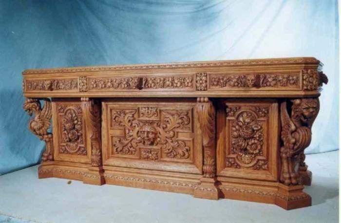 Письменный стол (репродукция). Мебель, предметы интерьера - Антикварная мебель