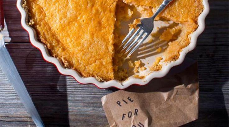 Grapefruit Pie with Saltine Pie Crust Four and Twenty Blackbirds Emily and Melissa Elsen Vegetarian