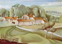 Derbyshire farm by Harry Epworth Allen