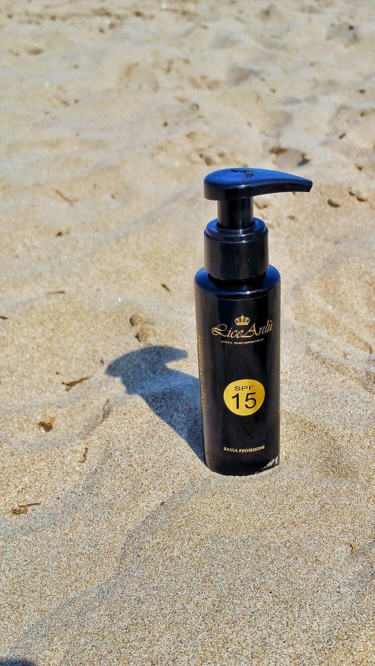Crema protezione solare spf15 per un'abbronzatura protetta! Lice Anlù Sun Experience