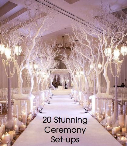 Click to see them all. http://www.perfectdayweddings.com.au/20-stunning-ceremony-set-ups