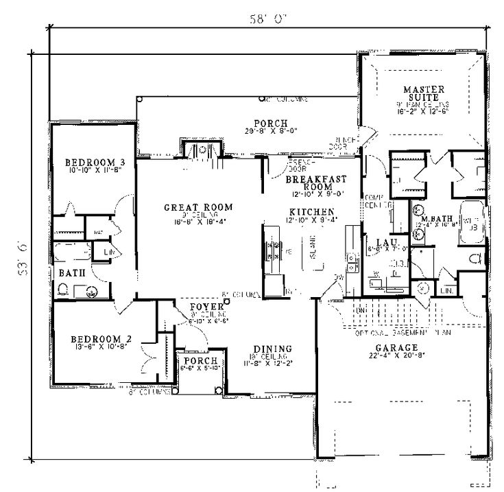 164 best house plans images on pinterest | ranch house plans