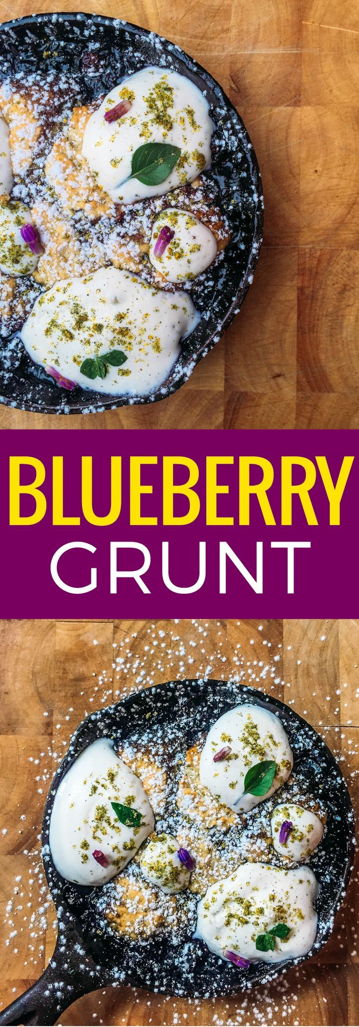 A uniquely Canadian recipe. Learn this simple blueberry grunt recipe, a simple blueberry cobbler recipe from Nova Scotia that we've modernized by smoking the blueberries. ~ http://www.baconismagic.ca
