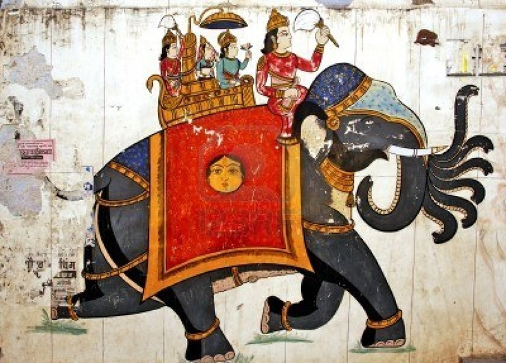 Indian Elephant Painting 24 best images ...