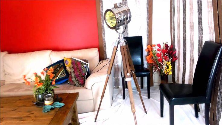 Callista  - Vintage spotlight studio cinema Tripod floor lamp