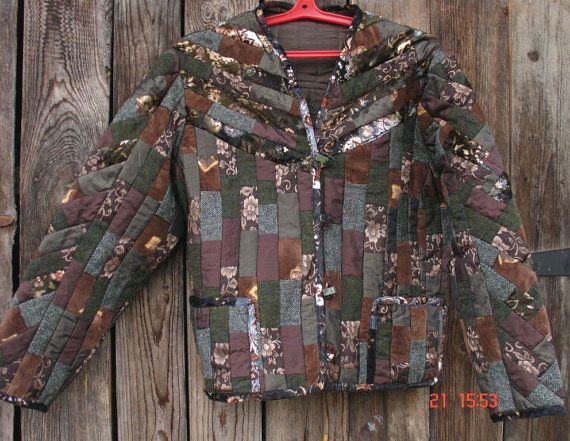 patchwork jacket by KingSizeQuiltsQueen on Etsy