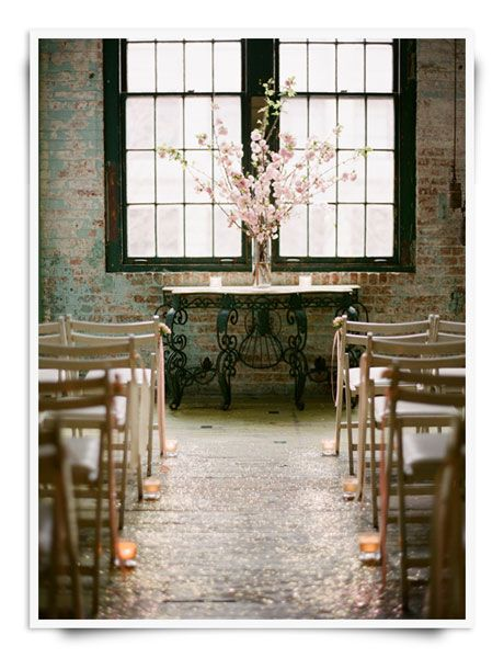 I love this idea - sparkly + candle light on the  aisles