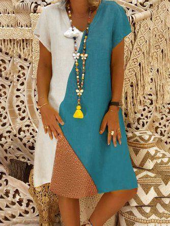 462226b9da140 ... Women Sleeveless Pockets Solid Summer Dress – shecici. Boho V Neck  Printing Casual Dresses - JustFashionNow.com