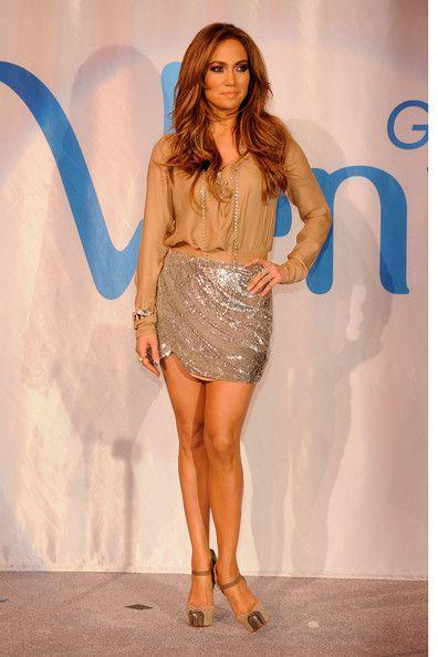 Haute Hippie's Sequined Miniskirt - Jennifer Lopez's Most Magnificent Fashion Moments - Photos
