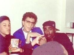 Tupac with Yaki Kadafi and Yaki's mom.