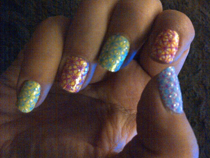 Love my kaleidoscope nails