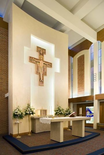 Diseos y adornos de altares de iglesias catolicas