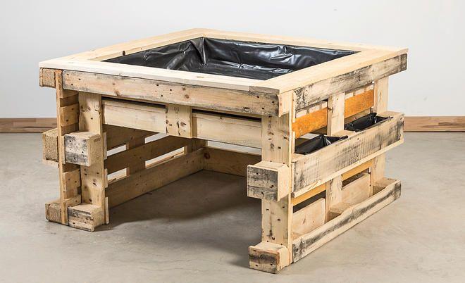 die besten 10 hochbeet aus paletten ideen auf pinterest gr ne kiste obstkisten holz und. Black Bedroom Furniture Sets. Home Design Ideas