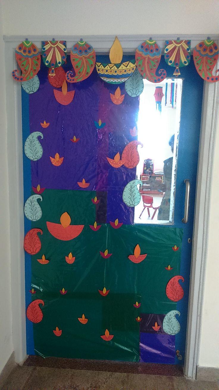Classroom Decoration Bulletin Boards : Lkg classroom door decoration creative