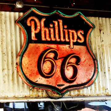 Route 66 - Phillips 66 Gas Station Sign - 11x11 Fine Art Photo. $35.00, via Etsy.