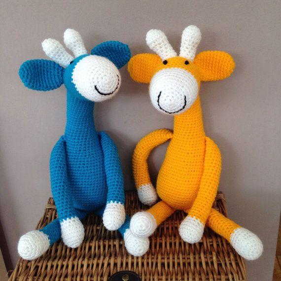 Handmade Giraffe toy by Bitzas on Etsy