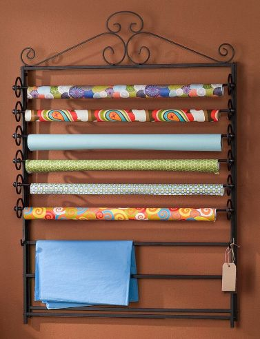 Wrapping Paper Organizer The Amazing Wall Mount Gift Wrap