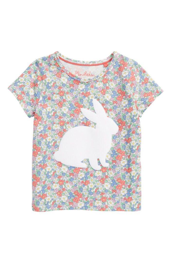26b21da99f Main Image - Mini Boden Floral Bunny Appliqué Tee (Toddler Girls ...