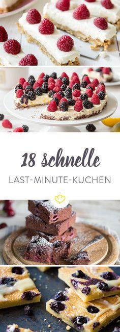 Deine beste Freundin steht in 35 Minuten vor der Tür? Dann sind diese 15 schnellen Kuchen genau das Richtige für dich. In 35 Minuten auf dem Tisch.