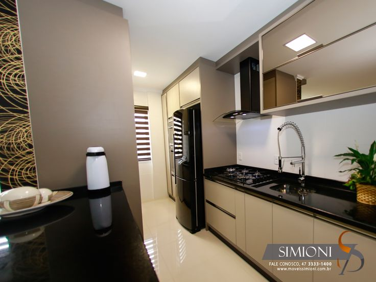 Cozinha e lavanderia conjugada simioni m veis planejados for Armarios para habitaciones pequenas